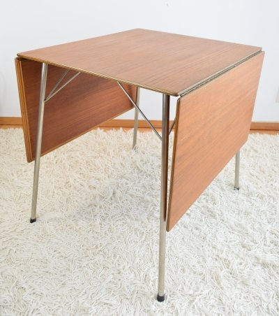 Arne Jacobsen FH 3601 Teak Folding Dining Table, 1950's