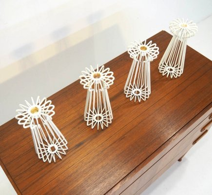 Set of 4 architectural candleholders, 1970s