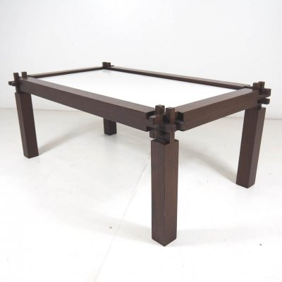 Wengé coffee table with Japanese construction
