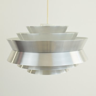 Aluminium 'Trava' Ceiling Pendant light by Carl Thore, 1960s
