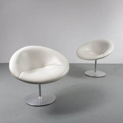 Pair of Little Globe chairs by Pierre Paulin for Artifort, 1970s