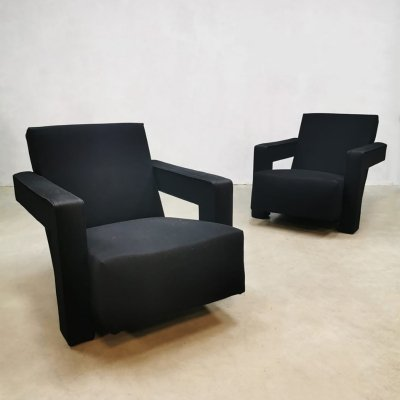 Dutch design 'Utrecht' chair by Gerrit Rietveld for Cassina, 1990s