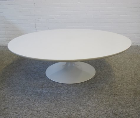 Large white coffee table by Maurice Burke for Arkana, 1960s