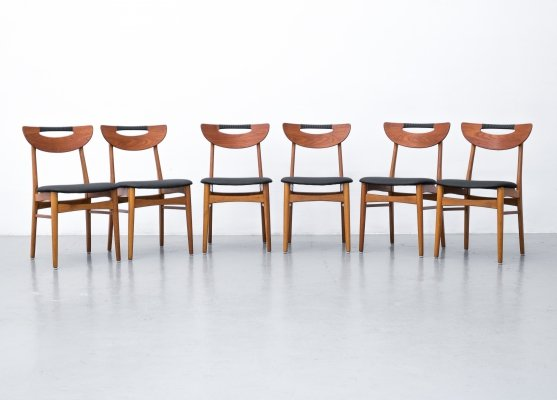 Set of 6 chairs made in Denmark, 1960s