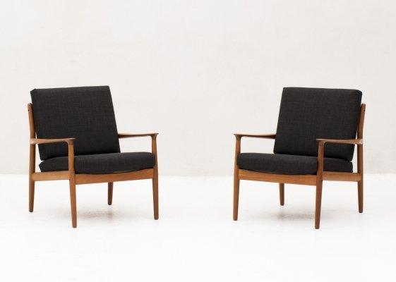 2 easy chairs by Grete Jalk for France & Søn, Denmark 1960's