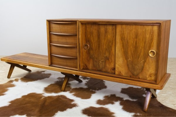 Large Credenza in walnut by Rudolf Glatzel for Fristho, 1956