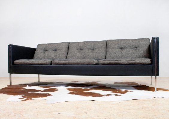 Pierre Paulin Sofa 442 in Black & Grey for Artifort, 1962