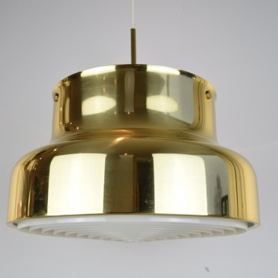 Anders Pherson Brass Bumling Pendant Light, 1970's
