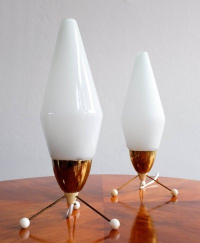 Pair of desk lamps by Stanislav Kučera for Lustry Kamenický Šenov, 1960s