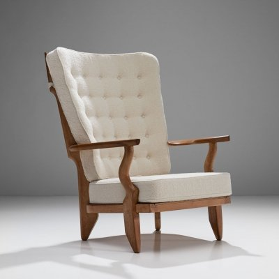 Guillerme et Chambron 'Grand Repos' Lounge Chair, France 1950s