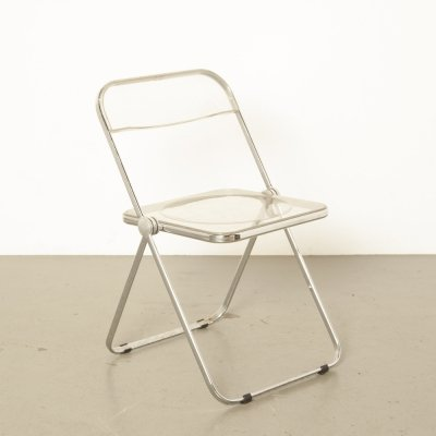 Plia folding chair in clear acrylic by Giancarlo Piretti for Castelli