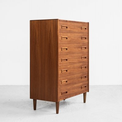 Danish Midcentury chest of 7 drawers in teak by Westergaard, 1960s