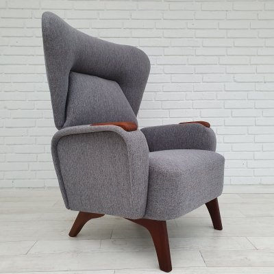 Danish armchair in teak & ash wood, 1970s