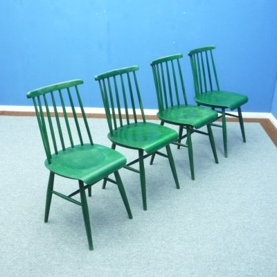 Set of 4 Mid-Century Scandinavian Teak Dining Chairs by Ilmari Tapiovaara for Asko, 1960s