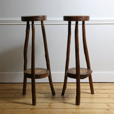 Pair of Primitive Timber Stools, 1960s