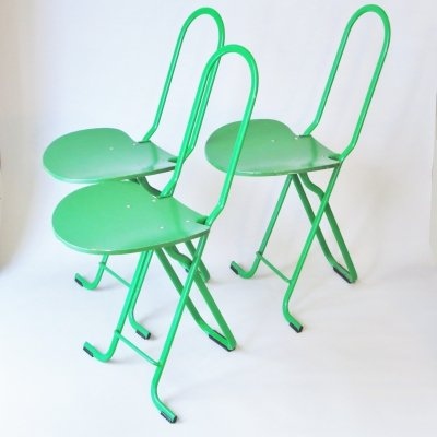 Set of 3 Dafne dining chairs by Gastone Rinaldi for Thema Italy, 1970s