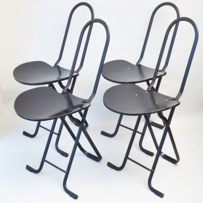 Set of 4 Dafne dining chairs by Gastone Rinaldi for Thema Italy, 1970s