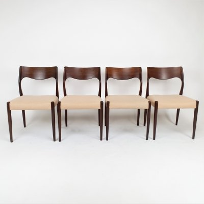 Set of 4 Mid Century Danish/Dutch Fristho chairs, 1960s