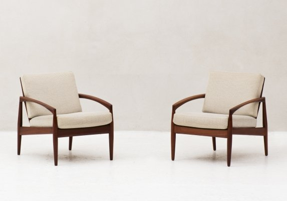 Set of 2 Paper Knife chairs 'Model 121' by Kai Kristiansen, 1950's