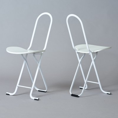 Pair of Dafne stools by Gastone Rinaldi for Thema Italy, 1970s