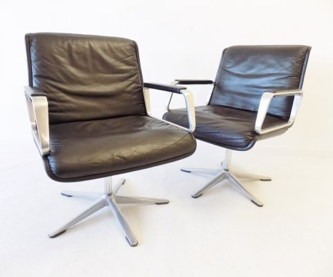 Pair of Delta 2000 office chairs by Delta Design for Wilkhahn, 1960s