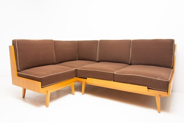 Mid century corner sofabed from UP Závody, 1950s