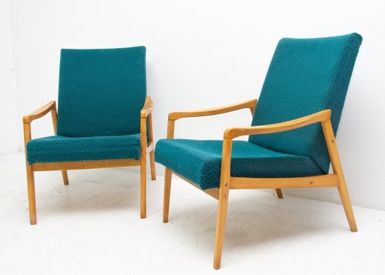 Pair of arm chairs by Jiří Jiroutek for Interier Praha, 1960s