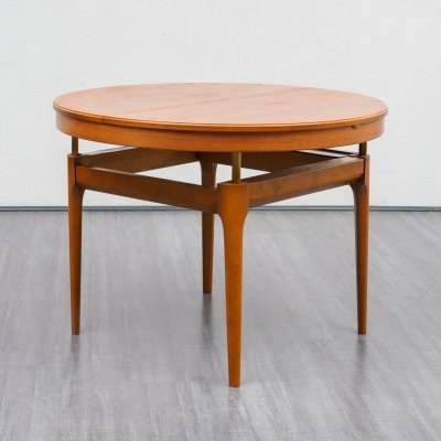 Height & lenght adjustable Mid Century Teak Coffee- / Dining Table by Wilhelm Renz