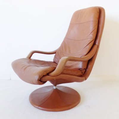 Danish Leather Lounge Chair by Georg Thams for Vejen, 1960s
