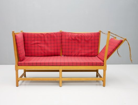 Very Early Spokeback Sofa by Børge Mogensen for Fritz Hansen, 1963