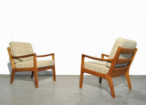 Teak 'Senator series' easy chairs by Ole Wanscher for Cado, 1960s