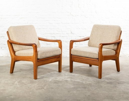 Pair of lounge chairs by Juul Kristensen for JK Denmark, 1960s