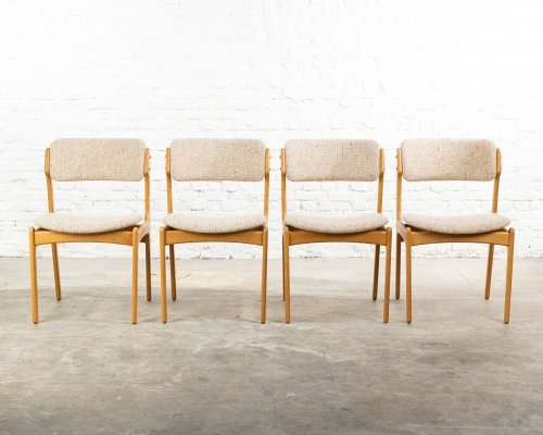 Set of 4 Model 49 dining chairs by Erik Buch for OD Møbler, 1960s