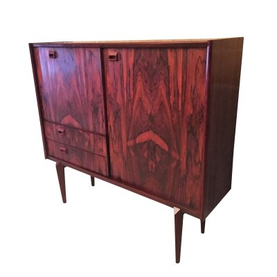 Paola rio palissander highboard by Oswald Vermaercke for V-Form, Belgium 1960s