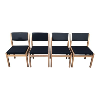 Set of 4 SA07 Japanese Series dining chairs by Cees Braakman for Pastoe, 1960s