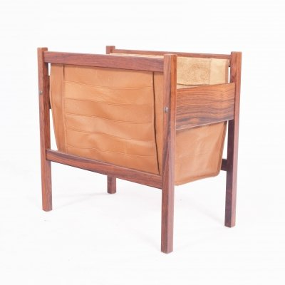 Mid-Century Danish Rosewood Magazine Holder