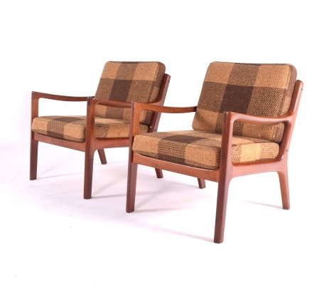 Mid-Century Teak Ole Wanscher Easy Chairs, 1960s