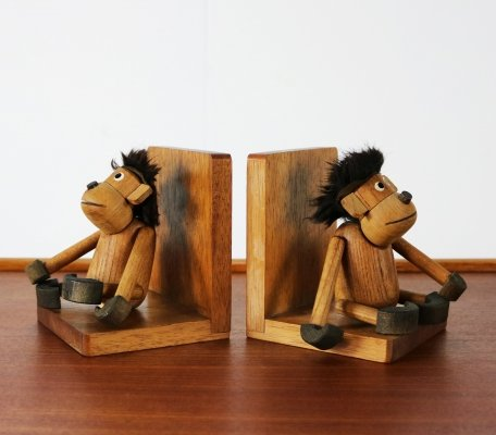 Pair of Danish design book ends