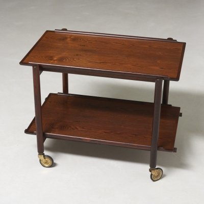 Poul Hundevad trolley with extendable tray, 1950s