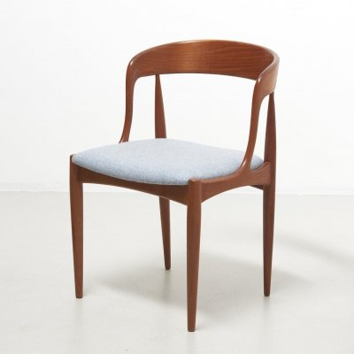 Rare set of 4 'Model 16' dining chairs in teak by Johannes Andersen for Uldum Møbelfabrik