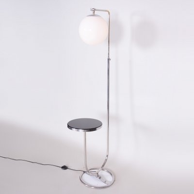 20th Century Czech Chrome Floor Lamp by Mücke Melder, 1930s