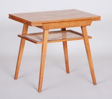 Oak Coffee Folding Table by Architect František Jirák, 1950s