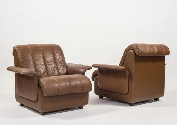 Set of two vintage armchairs by Skippers Møbler, 1970's