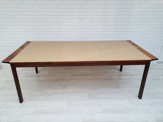 Svend Skippers conference table in rosewood & leather by Hans Olsen