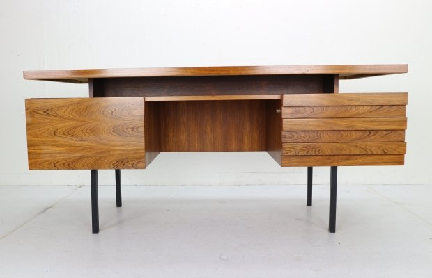 Mid-Century Modern Rosewood Writing Desk by Leo Bub for Wertmöbel, 1960s