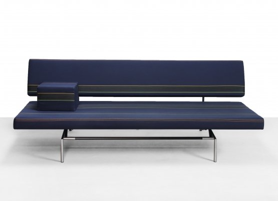 Martin Visser BR02 sofa with Kvadrat Herringbone stripe fabric by Paul Smith