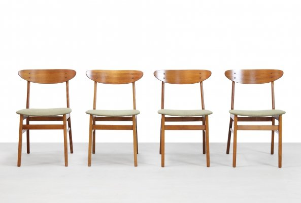 Set of 4 Model 210 Farstrup dining chairs