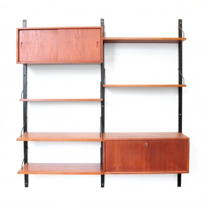 Teak Poul Cadovius wall unit for Royal System Denmark