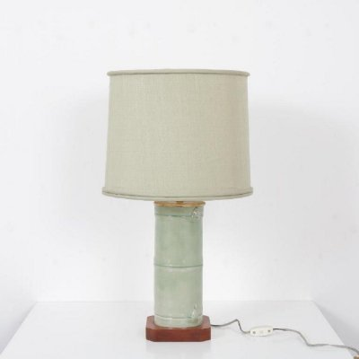 Faux bamboo table lamp, USA 1970s