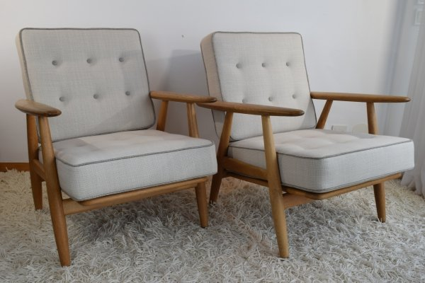 Pair of Hans Wegner GE240 'Cigar' Easy Chairs